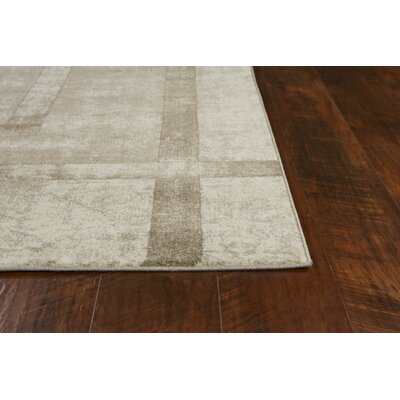 Winston Block Border Cream Area Rug Rug Size: Rectangle 53 x 77