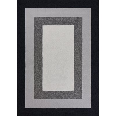 Hamptons Highview Hand-Hooked Charcoal Indoor/Outdoor Area Rug Rug Size: Round 7