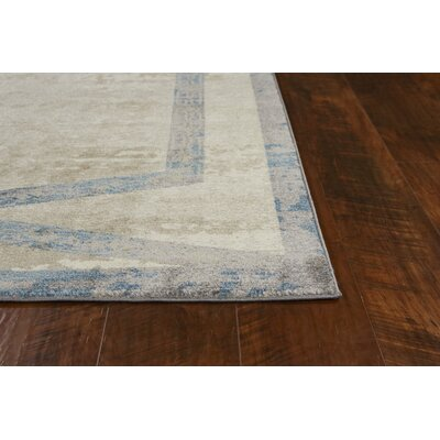 Winston Target Overlay Tan/Teal Area Rug Rug Size: Rectangle 33 x 411