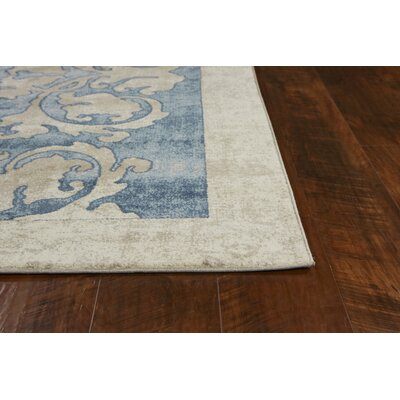 Winston Watercolor Batik Teal/Beige Area Rug Rug Size: Rectangle 89 x 13