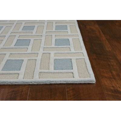 Soho Brick Hand-Tufted Wool Spa/Pumice Area Rug Rug Size: Round 76