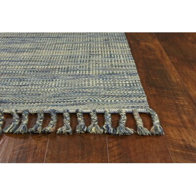 Homespun Mission Hand Woven Wool/Cotton Ocean Area Rug Rug Size: Rectangle 9 x 12