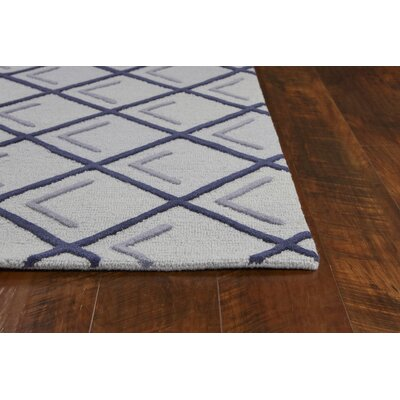 Soho Square Hand-Tufted Wool Iron/Smoke Cooper Area Rug Rug Size: Rectangle 5 x 7