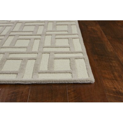 Soho Brick Hand-Tufted Wool Tan/Ivory Area Rug Rug Size: Runner 23 x 76