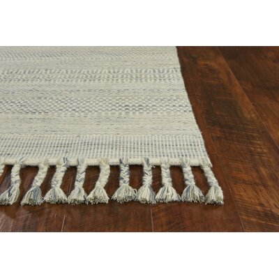 Homespun Sedona Hand Woven Wool/Cotton Oatmeal Area Rug Rug Size: Rectangle 8 x 10
