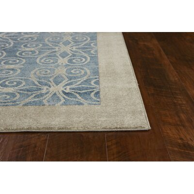 Winston Looking Glass Teal Area Rug Rug Size: Rectangle 53 x 77