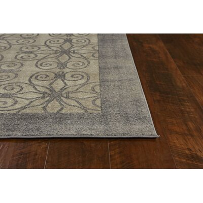 Winston Looking Glass Greige Area Rug Rug Size: Round 66