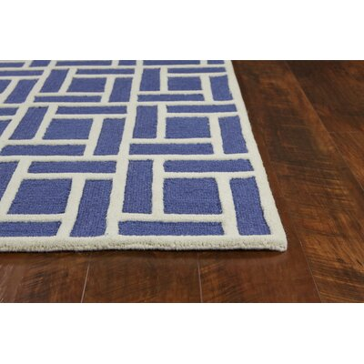 Soho Brick Hand-Tufted Wool Indigo Area Rug Rug Size: Rectangle 76 x 96