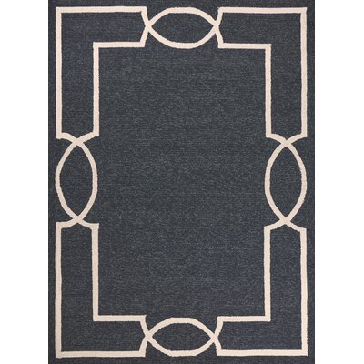 Hamptons Madison Hand-Hooked Onyx Indoor/Outdoor Area Rug Rug Size: Rectangle 3 x 5