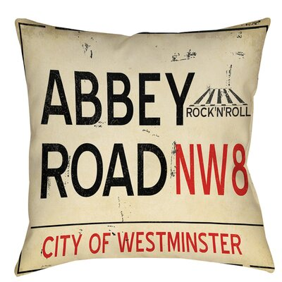 Abbey Road Indoor/Outdoor Throw Pillow Size: 18