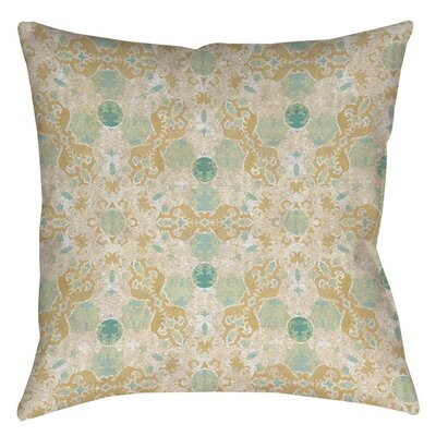 Tea House Patterns 12 Printed Throw Pillow Size: 18