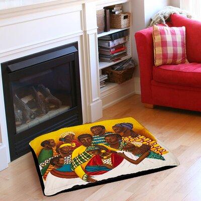 "Family Photo Pet Bed Size: 40"" L x 30"" W"