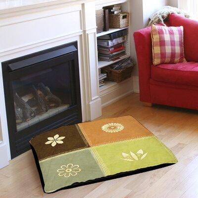 "Graphic Garden Sage Pet Bed Size: 50"" L x 40"" W"