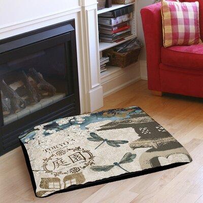 """Meditation Gardens 1 Indoor/Outdoor Pet Bed Size: 28"""" L x 18"""" W"""
