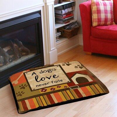 "Love Never Fails Indoor/Outdoor Pet Bed Size: 28"" L x 18"" W"