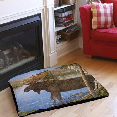 "Majestic Moose Indoor/Outdoor Pet Bed Size: 50"" L x 40"" W"