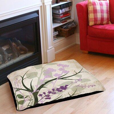 "Lavender and Sage Flourish Indoor/Outdoor Pet Bed Size: 50"" L x 40"" W"