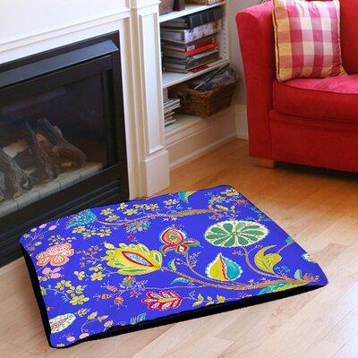 "La Roque Summer Floral Indoor/Outdoor Pet Bed Size: 50"" L x 40"" W"