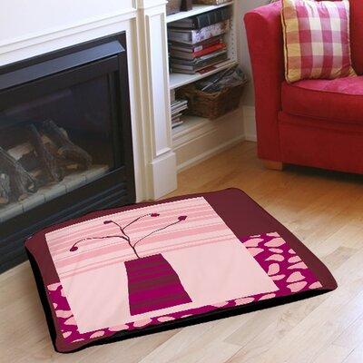 """Minimalist Flowers 4 Indoor/Outdoor Pet Bed Size: 40"""" L X 30"""" W"""
