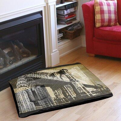 """Metropolitan Collage 1 Indoor/Outdoor Pet Bed Size: 28"""" L x 18"""" W"""