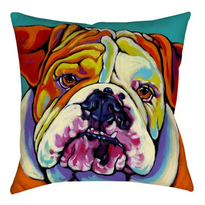 Maggie Printed Throw Pillow Size: 18