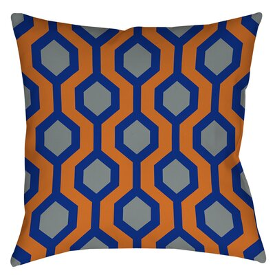 Carpet Printed Throw Pillow Color: Blue, Size: 18