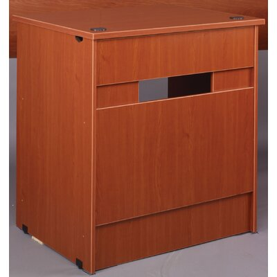 Library 40 H x 36 W Desk Return Finish: Cherry