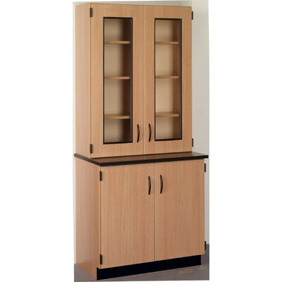 Science 4 Door Storage Cabinet Color: Evening Tigris, Finish: Medium Oak Product Image 2908