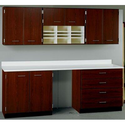 Suites 2 Piece Standard Desk Office Suite Top Color: Fashion Grey, Base Color: Fashion Grey 84514 E90-10-010