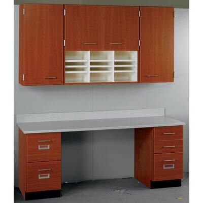 Suites 2 Piece Standard Desk Office Suite Top Color: Fashion Grey, Base Color: Fashion Grey 84516 E60-10-010