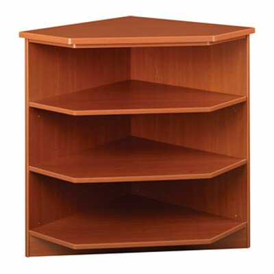 Library Outside Corner Shelving Unit Finish: Walnut