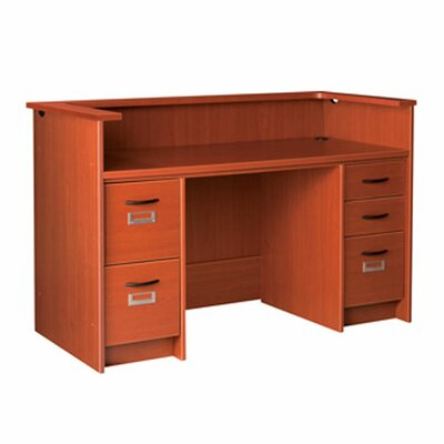 Cheap Double Pedestal Patron Ledge Computer Desk Product Photo