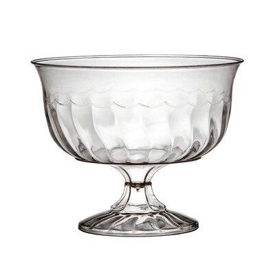 Flairware Rippled Disposable Plastic 8 oz. Dessert Cup (240/Case) 2088-CL