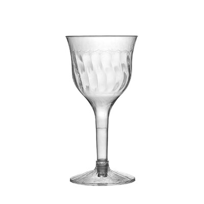 Fineline Settings, Inc Flairware Rippled Disposable Plastic 2 Piece 6 oz. Wine Goblet (120/Case) at Sears.com