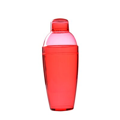 Quenchers Disposable 10 oz. Neon Cocktail Shaker 4102-RD