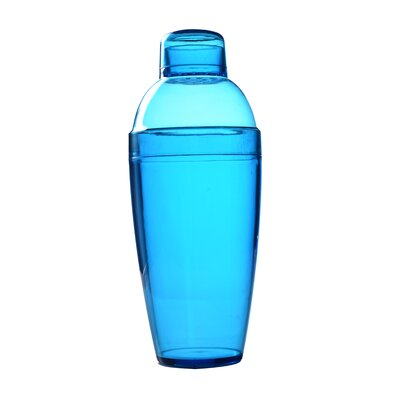 Quenchers Disposable 10 oz. Neon Cocktail Shaker Color: Blue 4102-BL
