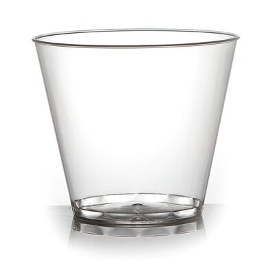 Savvi Serve Old-Fashioned 9 oz. Plastic Old Fashioned Glass (500 Pack) 409-CL