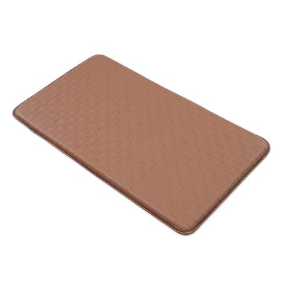 Basket Weave Kitchen Mat Color: Brown