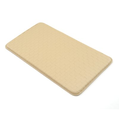 Basket Weave Kitchen Mat Color: Beige