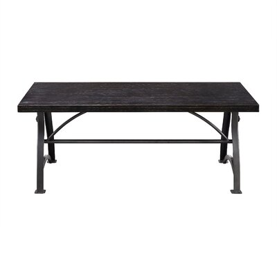 Delanie Wood and Metal Coffee Table