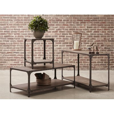 Danette Wood and Metal 3 Piece Coffee Table Set