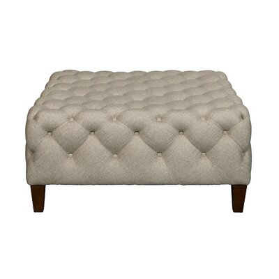Brysen Square Button Tufted Cocktail Ottoman