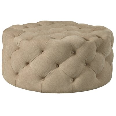 Millie Round Button Tufted Cocktail Ottoman