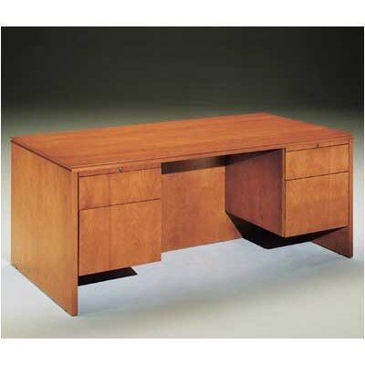 Forte Executive Desk with Drawer Finish: Honey Cherry, Pedestal: Left Product Picture 747
