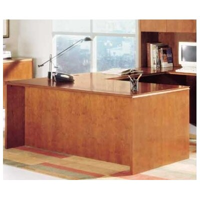 Forte Executive Desk with Shell Finish: Honey Cherry Product Picture 747