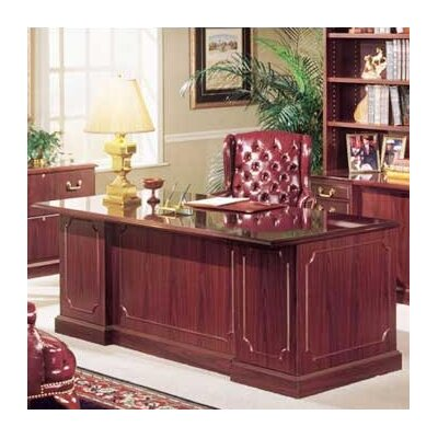 Bedford Double Executive Desk Finish: Mahogany