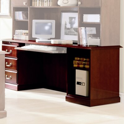 Legacy Pedestal Veneer Executive Desk Pedestal Left Top Wood Veneer Top Without Mo Product Photo