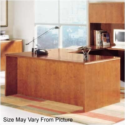 "High Point Furniture Forte 66"" W Executive Desk Shell - Finish: Natural Maple at Sears.com"