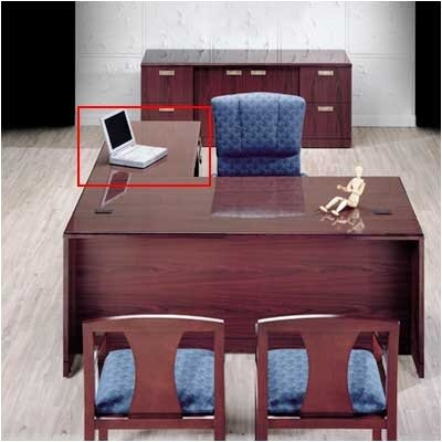 Vitality 29 H x 48 W 3/4 Pedestal Desk Height Right Desk Return Finish: Windsor Cherry