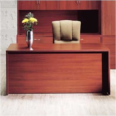 "High Point Furniture Hyperwork 72"" W Single Pedestal Credenza - Pedestal: Right, Finish: Windsor Cherry, Pull: Chrome at Sears.com"